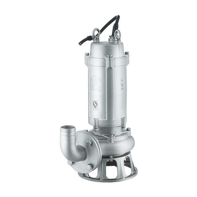 WQ(D)-S全不锈钢精密铸造污水污物潜水电泵(国标法兰)
